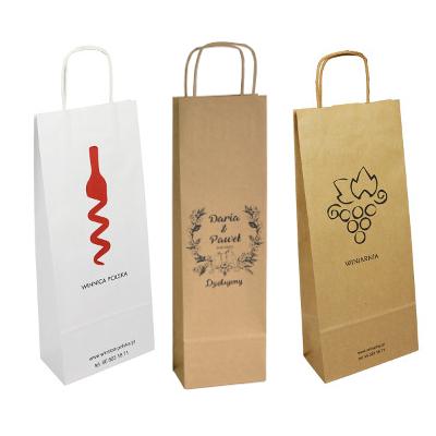 TORBY NA ALKOHOL torebki na butelkę białe BŁYSK !