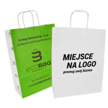 white eco papaer bags – custom printing