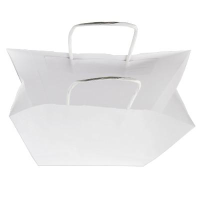 Torby papierowe białe gładkie – z nadrukiem