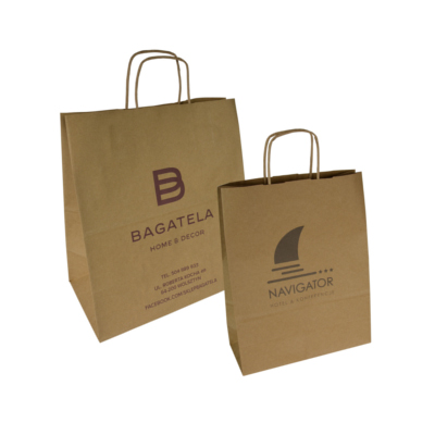 brown eco papaer bags – custom printing
