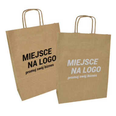 ribbed brown eco paper bags – custom printing