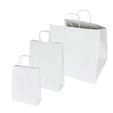 white plain smooth paper bags – without printing