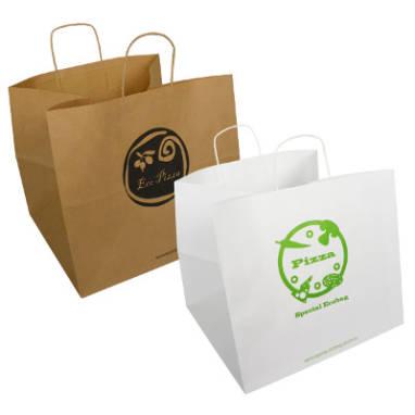 Catering- und Pizzapapiertaschen mit Aufdruck