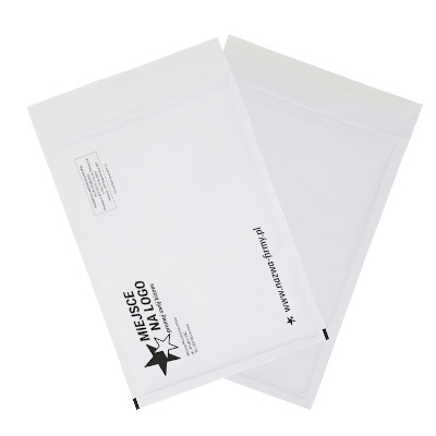 white offset bubble peel & seal pockets – custom printing