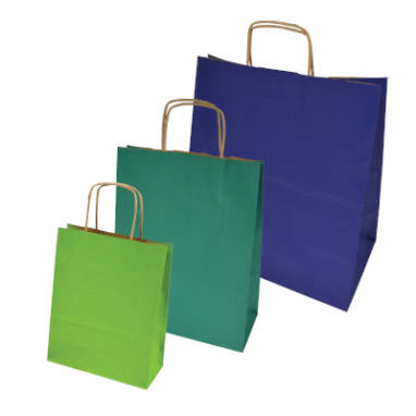 colored paper bags – without printing
