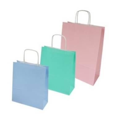 Torby papierowe pastelowe – standard