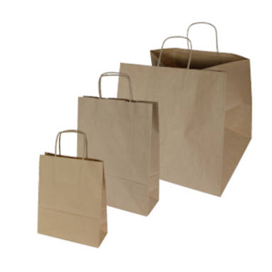 ribbed brown paper bags – without printing