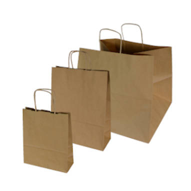 brown plain smooth paper bags – without printing